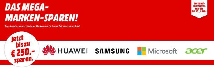 Media Markt Marken Sparen: günstige Artikel von Huawei, Samsung, Microsoft und Acer