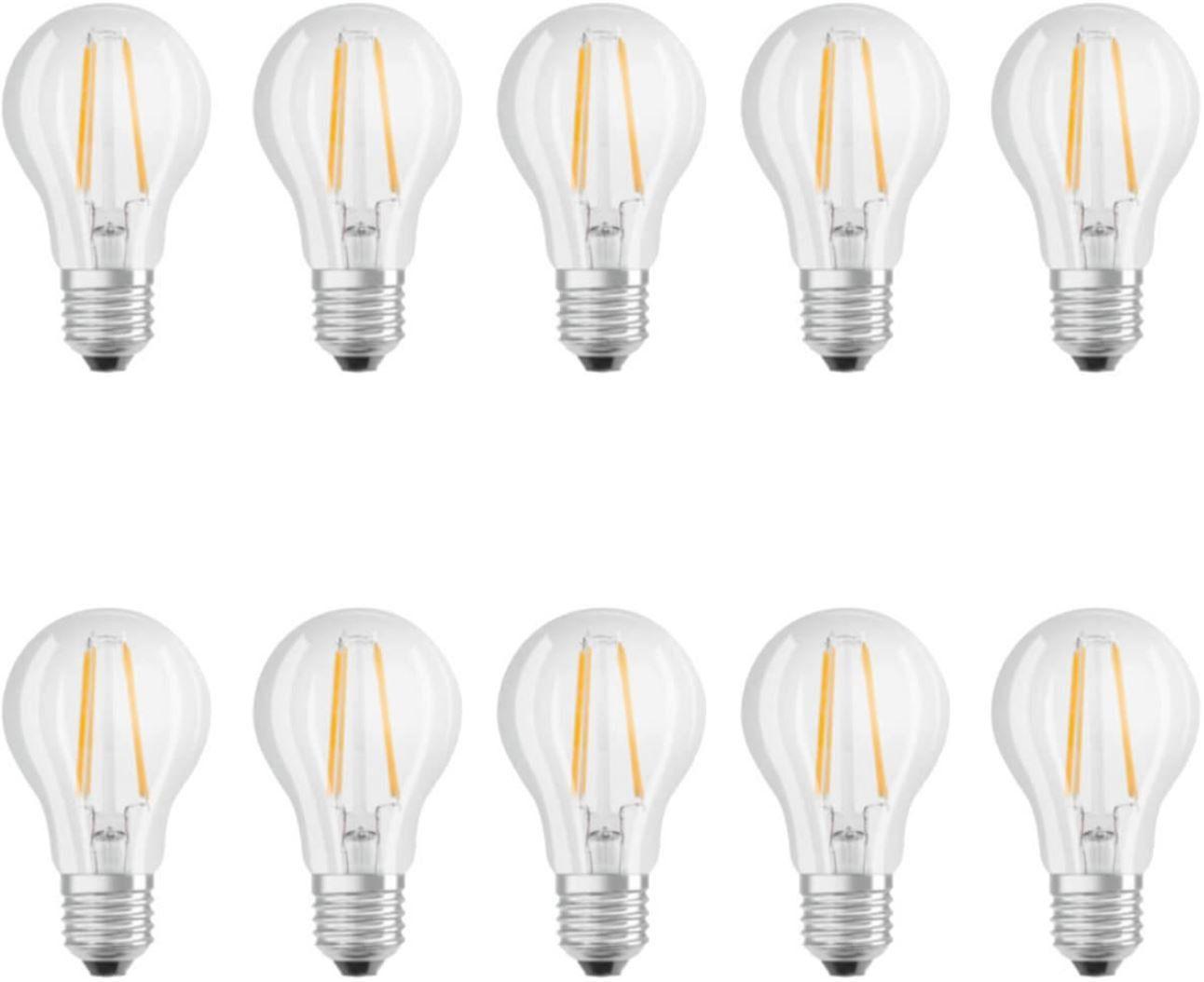 Osram Filament LED E 27 Birnen 7W im 10er Pack für 25,95€ (statt 33€)