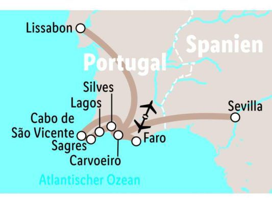 Portugal: 8 Tage Rundreise inkl. ÜN im 4* Hotel mit Halbpension, Flug & allen Transfers ab 494€ p.P.