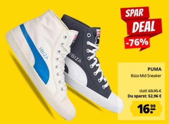 PUMA Ibiza Mid High Unisex Sneaker Restgrößen bis 43 für 20,94€ (statt 29€)