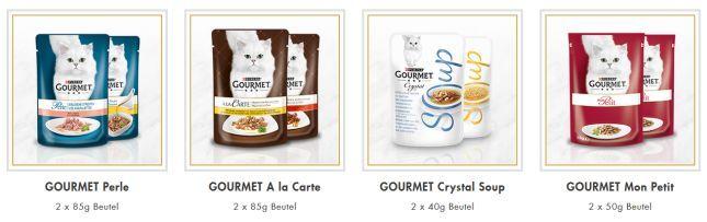 Purina Gourmet 2 Katzenfutter Proben gratis anfordern
