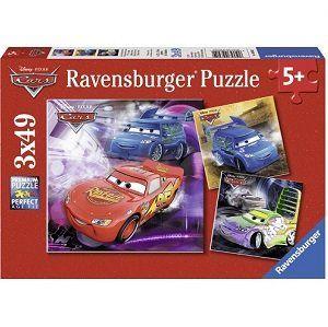 Ravensburger Disney Cars   Auf der Rennstrecke Puzzle (3 x 49 Teile) für 5€ (statt 9€)