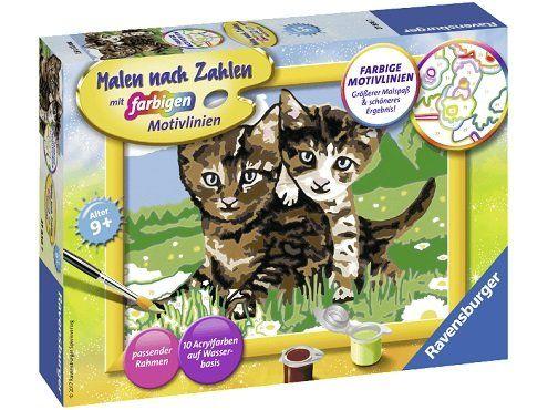 RAVENSBURGER Verspielte Kätzchen Malset für 6€ (statt 14€)