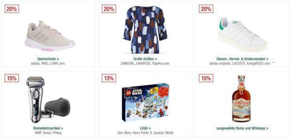 Galeria Kaufhof Sonntagsangebote   20% Rabatt auf Sportmarken Top Haushaltsmarken und vieles mehr
