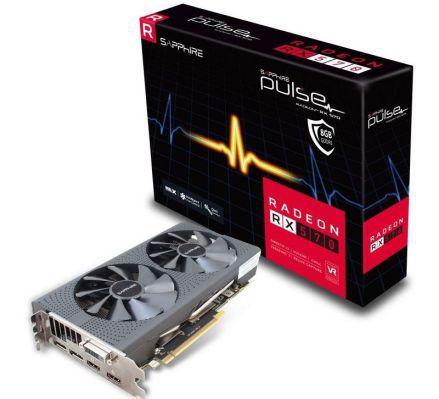Sapphire Radeon RX 570 Pulse (8GB GDDR5, 256 Bit) + Spielebundle für 207,99€ (statt 260€)