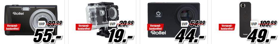 Media Markt Rollei Tiefpreisspätschicht   z. B. ROLLEI ACTIONCAM 372 für 19€