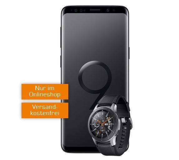 Top! Samsung S9 + Samsung Watch für 29€ (statt 786€) + Vodafone AllNet + 4 GB Daten Flat für 31,99€