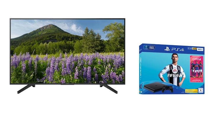 ? Knaller! Sony KD 65XF7005   65 Zoll 4K Fernseher + Sony PlayStation 4 (500 GB) + Fifa 19 für 999€ (statt 1.1359€)