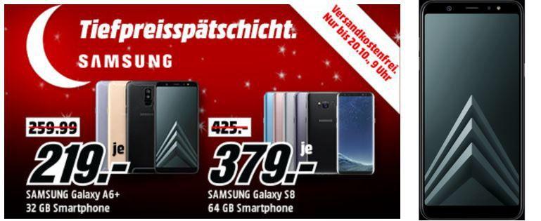 Media Markt Samsung Smartphone Tiefpreisspätschicht: z.B. SAMSUNG Galaxy J7 (2017) Duos für 169€