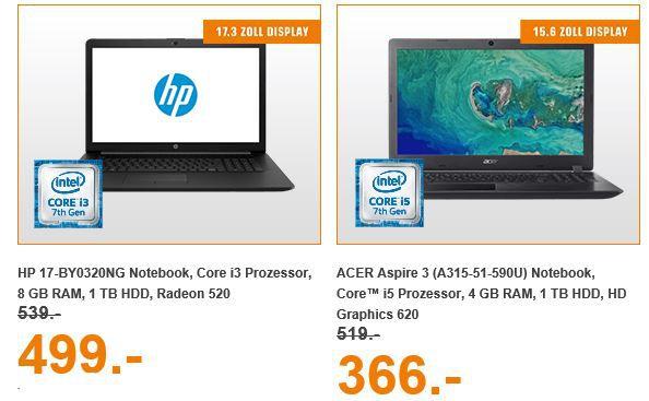 Saturn Entertainment Weekend Deals: z.B. LENOVO IdeaPad 320 i3 Notebook 17.3 für 444€ (statt 504€)