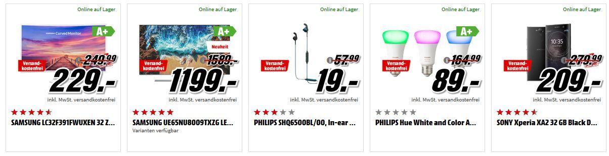 Media Markt Mega Marken Sparen: günstige Artikel von Samsung, Philips, Sony und iRobot
