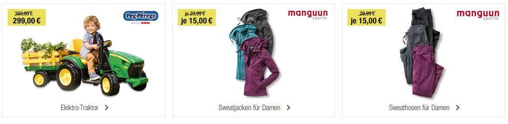 GALERIA Kaufhof 6 Tage Rennen bis zu 15€ sparen + Tagesangebote z.B. WMF Menerva 2 teiliges Topf Cromargan Set für 99€ (statt 139€)