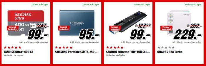 Media Markt Speicher Tiefpreis Woche: heute z.B. SanDisk PLUS 240GB SSD ab 35,53€ (statt 44€)