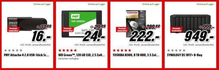 Media Markt Speicher Tiefpreis Woche: bis 20 Uhr z.B. SANDISK Ultra microSDHC Speicherkarte 32 GB für 7€ (statt 12€)
