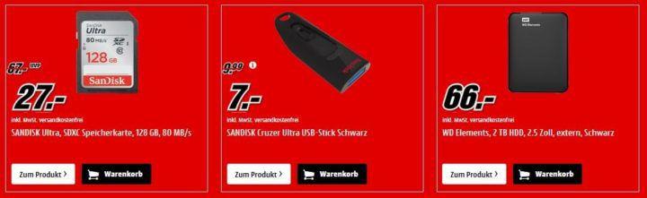 Media Markt Speicher Tiefpreis Woche: bis 20 Uhr z.B. SanDisk Ultra 3D SSD 512GB für 75€ (statt 102€)