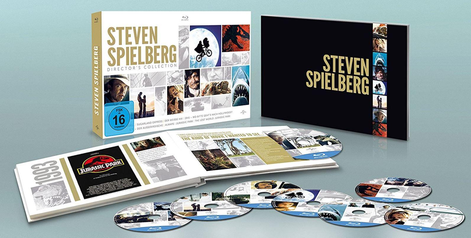 Steven Spielberg Directors Collection Blu ray für 27,97€  (statt 38€) [Prime]