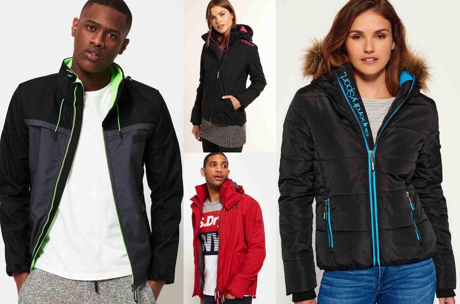 Superdry Jacken   verschiedene Damen und Herren Modelle bis 3XL für je 51,95€