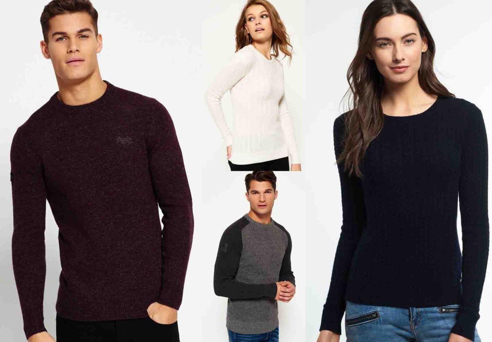 SUPERDRY   neue Damen & Herren Pullover   28 Modelle für je 30,95€