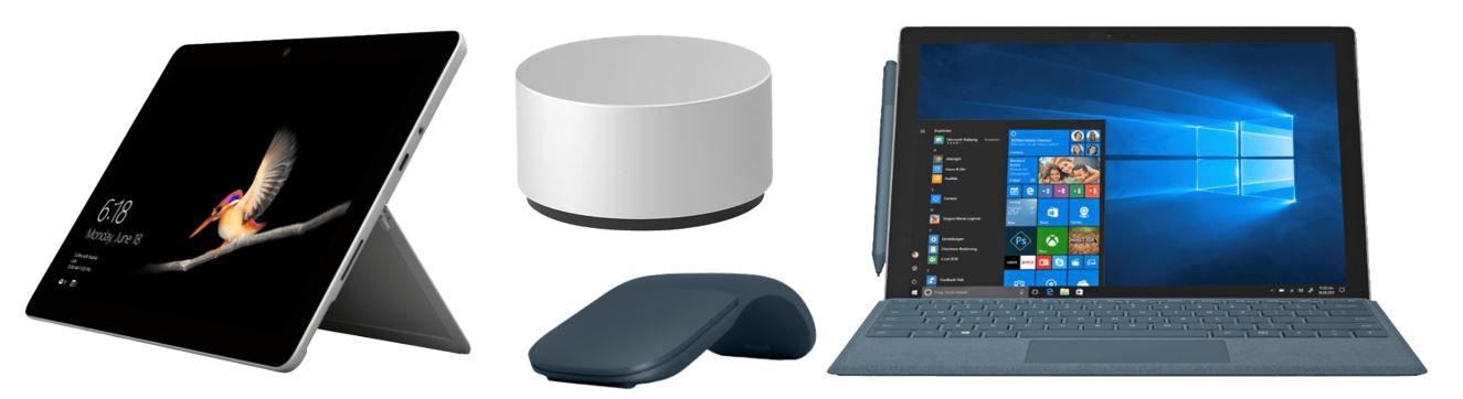 Saturn Markenwoche: heute günstige Microsoft Artikel : z.B.  Surface Go Tablet + Office für 449€