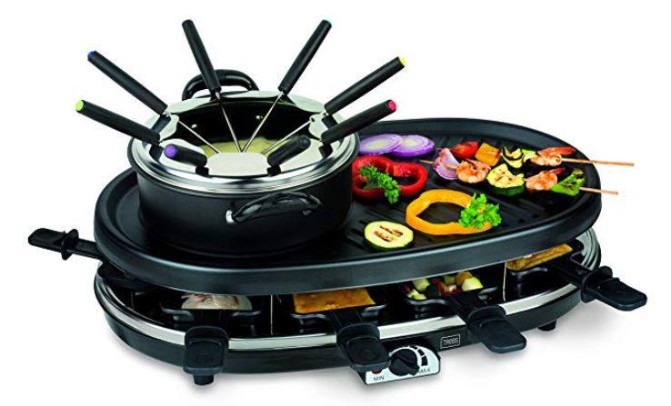 TREBS 99322   4 in 1 Multifunktionsgerät (Fondue, Grill, Raclette und Gourmet) für 62,99€ (statt 80€)