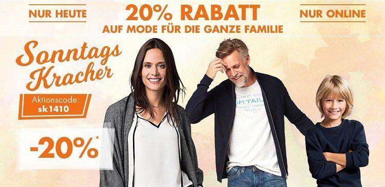 Karstadt Sonntags Kracher mit 20% auf Mode oder 15% auf Uhren & Schmuck