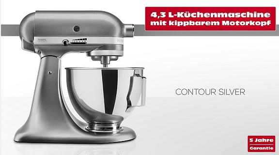 KitchenAid 5KSM95PSECU inkl. Fleischwolf für nur 377,99€