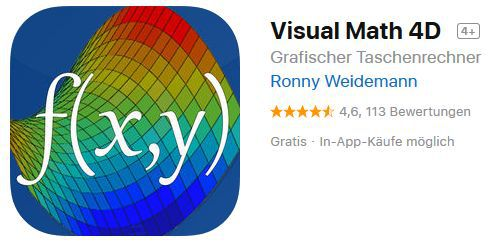 Visual Math 4D (iOS) gratis statt 2,29€