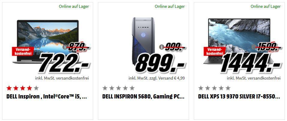 Media Markt Dell Tiefpreisspätschicht: günstige (Gaming) Notebooks, PCs und Convertibles