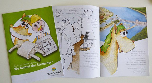 Kostenlos: CD´s, Malbücher, Kindermagazine u.ä. über Wasserkraft