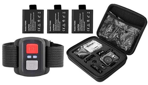 Vemico V2   4K ActionCam mit Fernbedienung & Zubehör für 52,79€ (statt 66€)