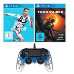 Nacon Wired Compact Controller + Fifa 19 (PS4) +  Shadow of the Tomb Raider (PS4) + Fallout 76 (PS4) für 76,99€ (statt 117€)