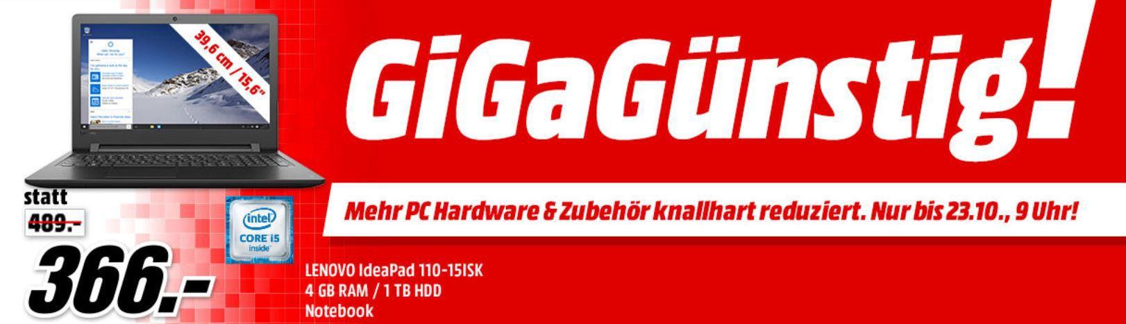 Media Markt GiGaGünstig Sale: PC Hardware & Zubehör reduziert z.B. LENOVO IdeaCentre AIO 520 Convertible für 599€ (statt 704€)