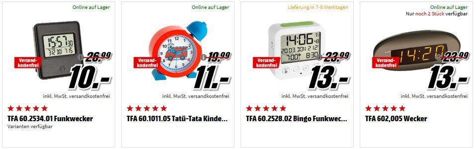 Media Markt Zeitumstellung: Wanduhren und Wecker zu Top Preisen ab 3€!