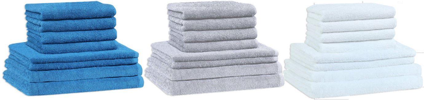 NATUREMARK 8 teilig Frotee Handtuchset (2 Duschtücher 70x140cm + 2 Handtücher 50x100cm + 4 Gästetücher 30x50cm) für 18,95€ (statt 31€)