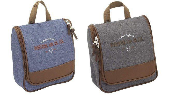 F23 Kulturtasche mit Henkel und geräumigem Hauptfach für 13,90€ (statt 23€)