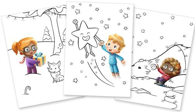 Personalisiertes Weihnachts Malbuch für eure Kinder gratis als PDF