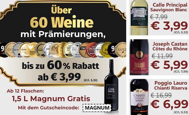 Weinvorteil: 1,5 Liter Magnumflasche Il Gran Segreto beim Kauf von 12 Flaschen geschenkt
