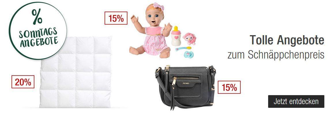 Galeria Kaufhof Sonntagsangebote   20% Rabatt auf Marken Designer Accessoires   15% Rabattt auf GINs uvam
