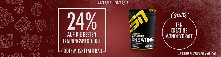 20% auf ESN, Creatine & Monohydrate bei fitmart