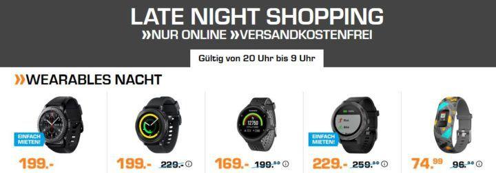 Saturn Wearables Nacht: günstige Sporttracker und Smartuhren   z.B. FOSSIL Q Venture für 169€