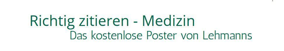 Medizin: kostenloses Zitierhilfeposter für Medizinstudenten als PDF