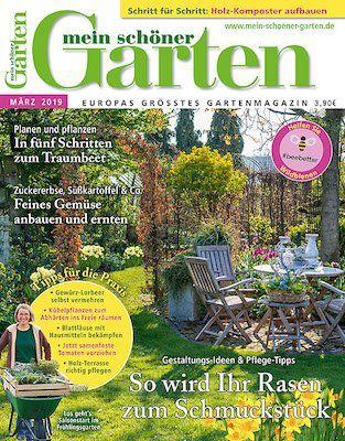 4 Ausgaben mein schöner Garten für 16€ inkl. 10€ Scheck oder Gießekanne (Wert 20€)
