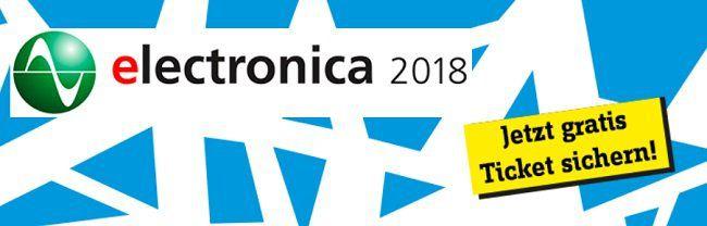 München: kostenloser Eintritt zur Messe electronica vom 13. bis 16.11.2018