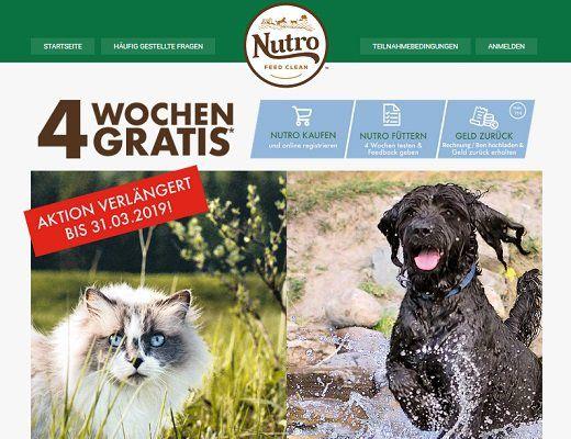 VERLÄNGERT: Katzen  und Hundefutter von Nutro gratis