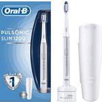 TOP! ORAL-B Pulsonic Slim 1200 elektrische Zahnbürste Silber für 49€ (statt 71€)
