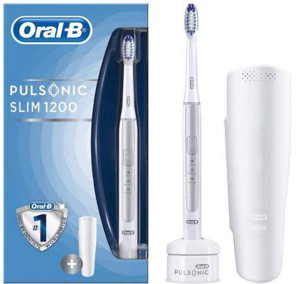 TOP! ORAL B Pulsonic Slim 1200 elektrische Zahnbürste Silber für 39€ (statt 50€)