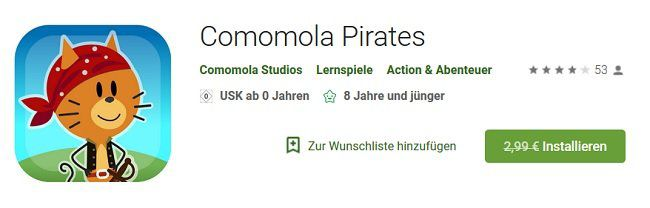 Android: Comomola Pirates kostenlos statt 2,99€