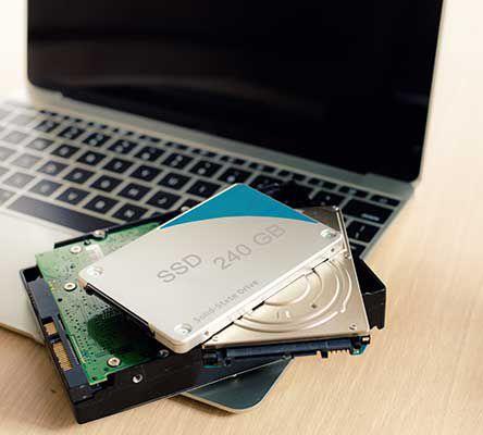 Verschiedene Festplatten für ein Laptop