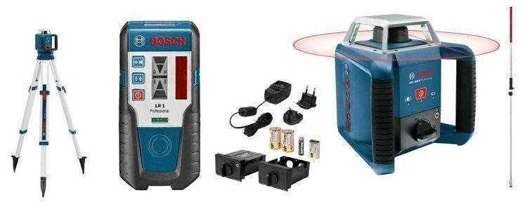 Bosch GRL 400 H Professional Rotationslaser mit Stativ und LR1 Empfänger für 440€ (statt 484€)