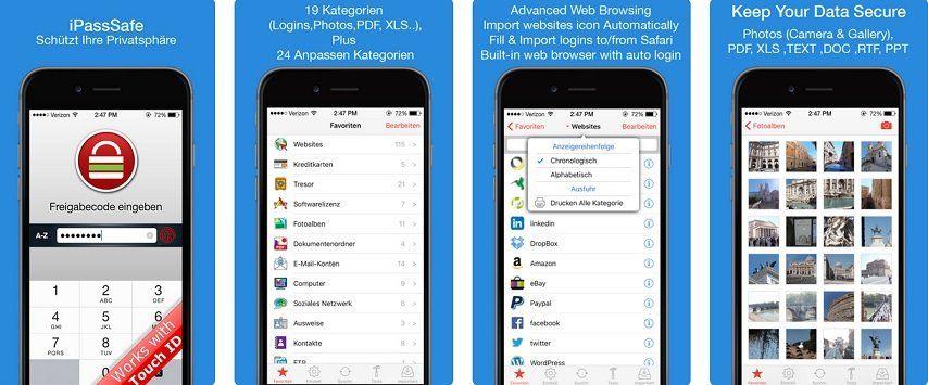 iOS: Password Safe   iPassSafe App gratis